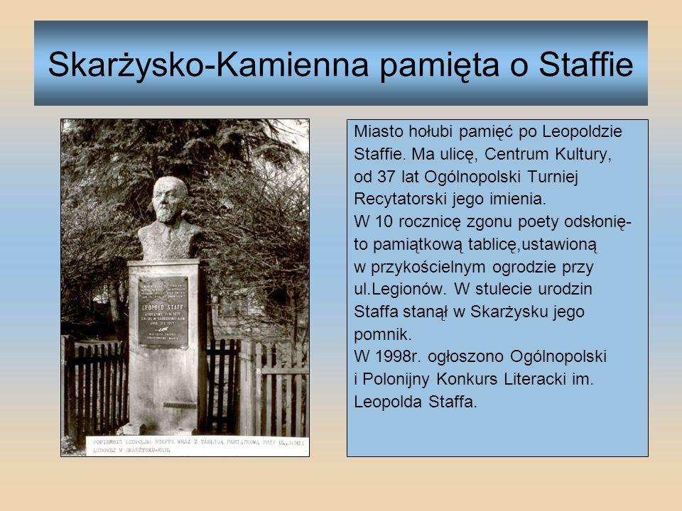 Odsłonięcie pomnika Leopolda Staffa W 1978 r.