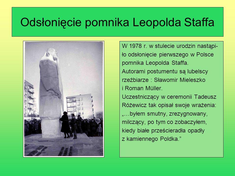 Sesja popularnonaukowa zorganizowana z okazji setnej rocznicy urodzin poety 8 grudnia 1978 r.