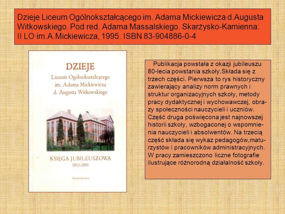 Dzieje Szkół Ekonomicznych w Skarżysku-Kamiennej 1927-1997.