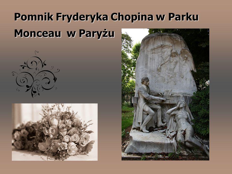 Pomnik Fryderyka Chopina w Parku Monceau w Paryżu