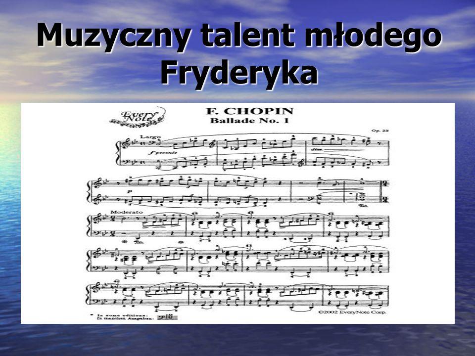 Nastaje 1849 rok.Fryderyk Chopin jest już bardzo chory.
