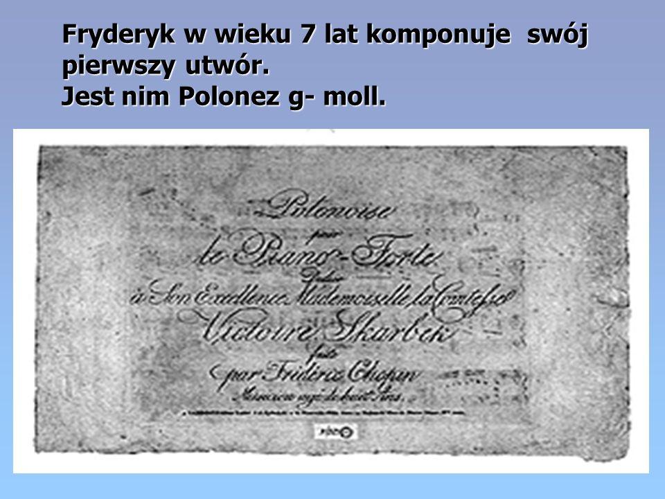 Cyprian Kamil Norwid, wielki polski poeta w nekrologu napisał: Rodem Warszawianin, sercem Polak, a talentem świata obywatel, Fryderyk Chopin zeszedł z tego świata.