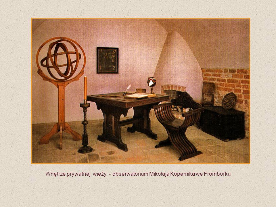 Wnętrze prywatnej wieży - obserwatorium Mikołaja Kopernika we Fromborku