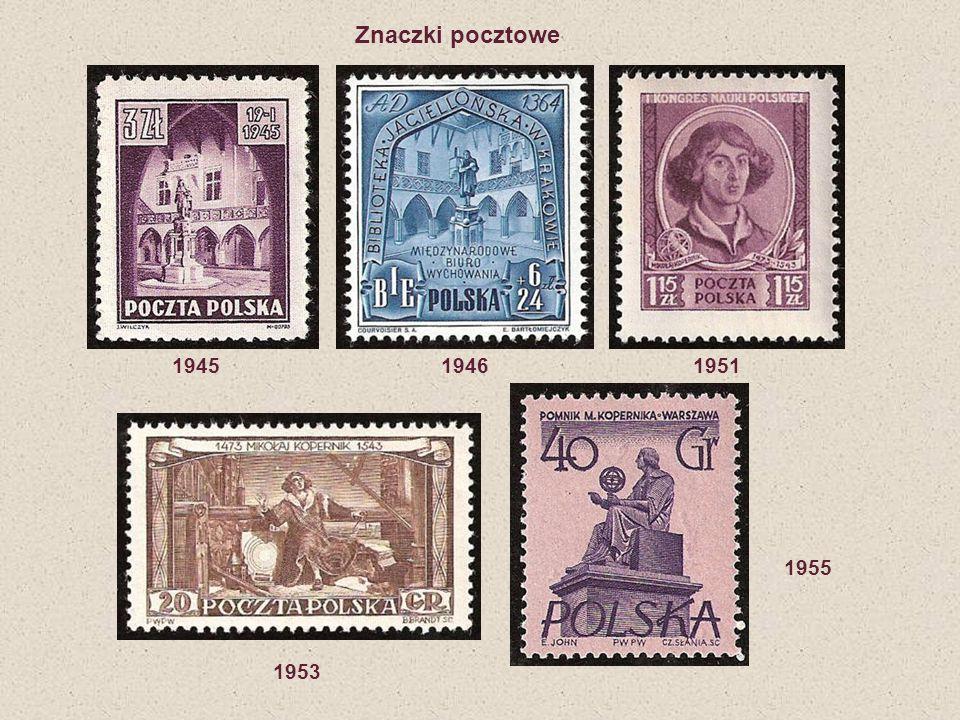 1945 1946 1951 1953 1955 Znaczki pocztowe