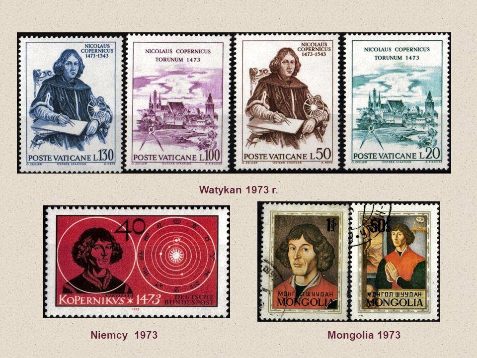 Watykan 1973 r. Niemcy 1973 Mongolia 1973