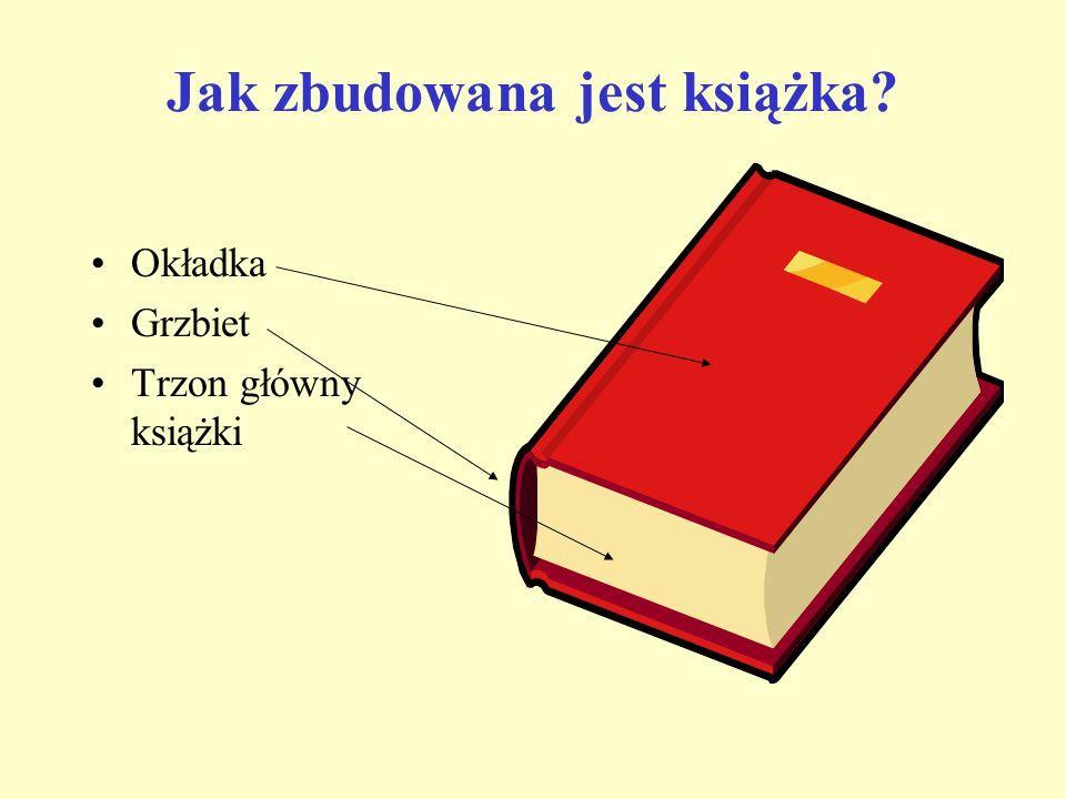 Jak zbudowana jest książka? Okładka Grzbiet Trzon główny książki