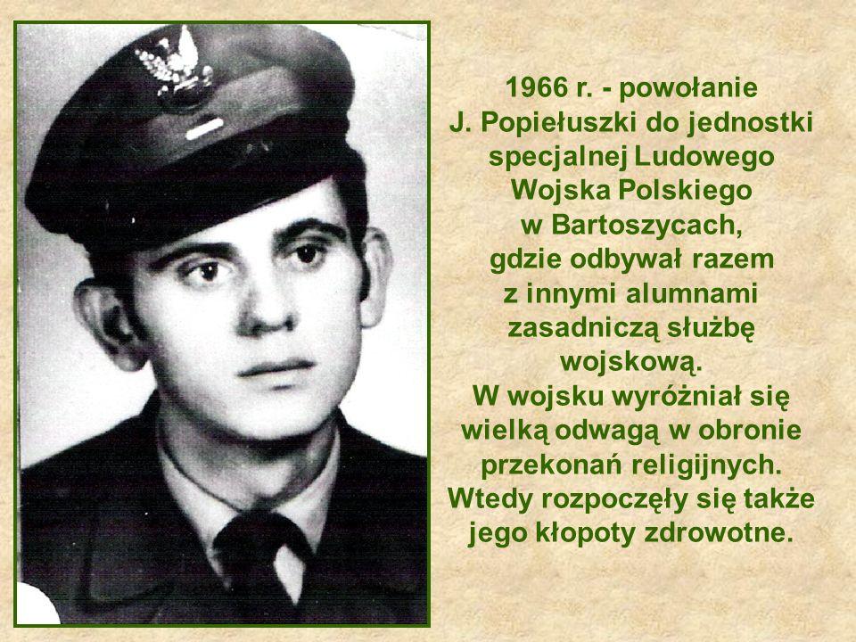 28 maja 1972 roku J.Popiełuszko w warszawskiej katedrze św.