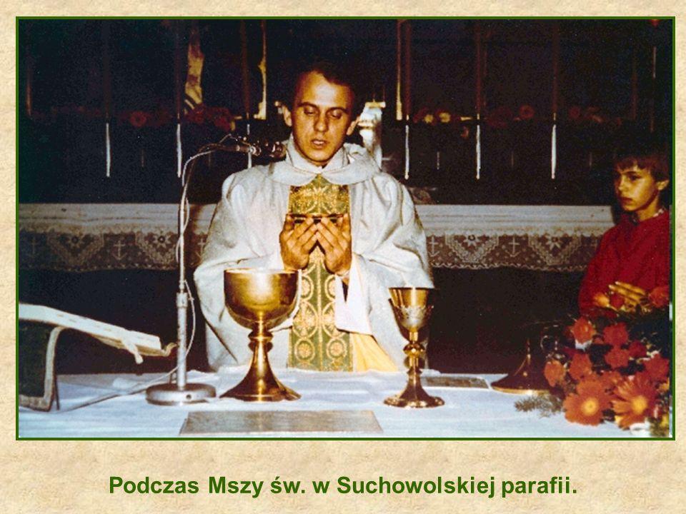 Podczas Mszy św. w Suchowolskiej parafii.