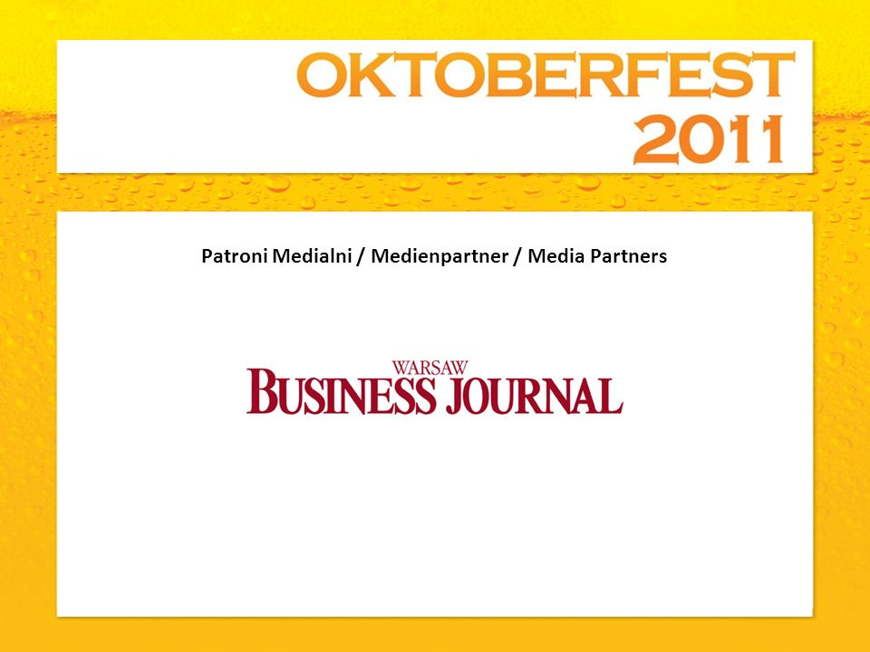 Patroni Medialni / Medienpartner / Media Partners