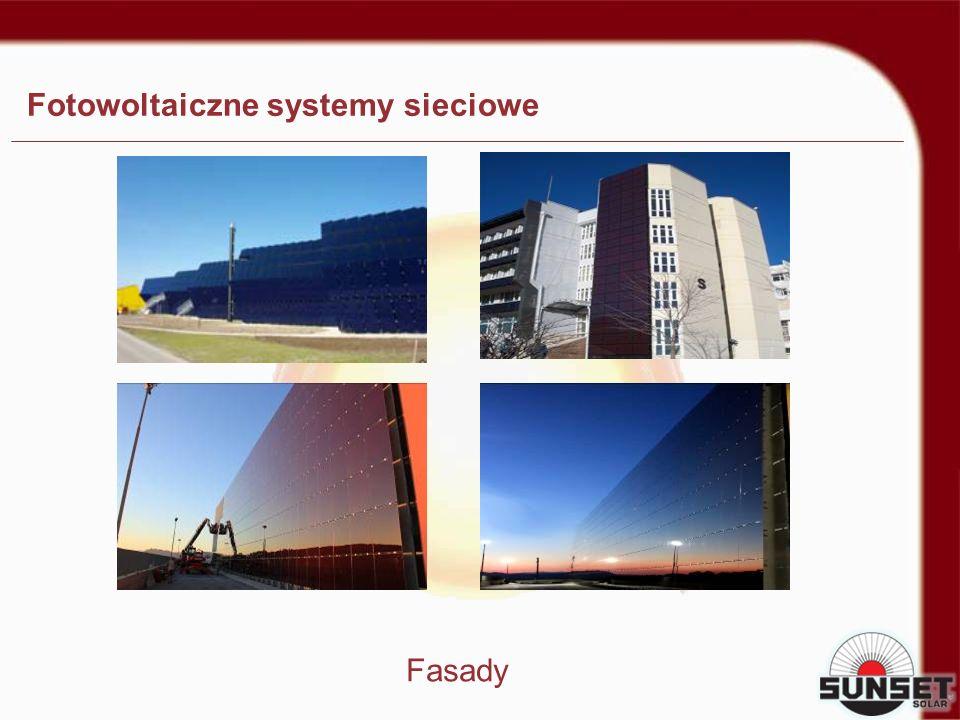 Fotowoltaiczne systemy sieciowe Fasady
