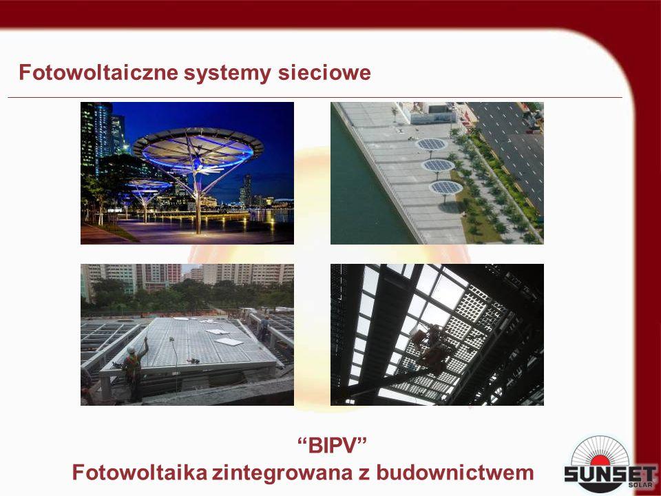 Fotowoltaiczne systemy sieciowe BIPV Fotowoltaika zintegrowana z budownictwem