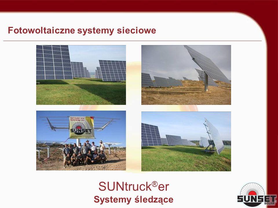 Fotowoltaiczne systemy sieciowe SUNtruck ® er Systemy śledzące