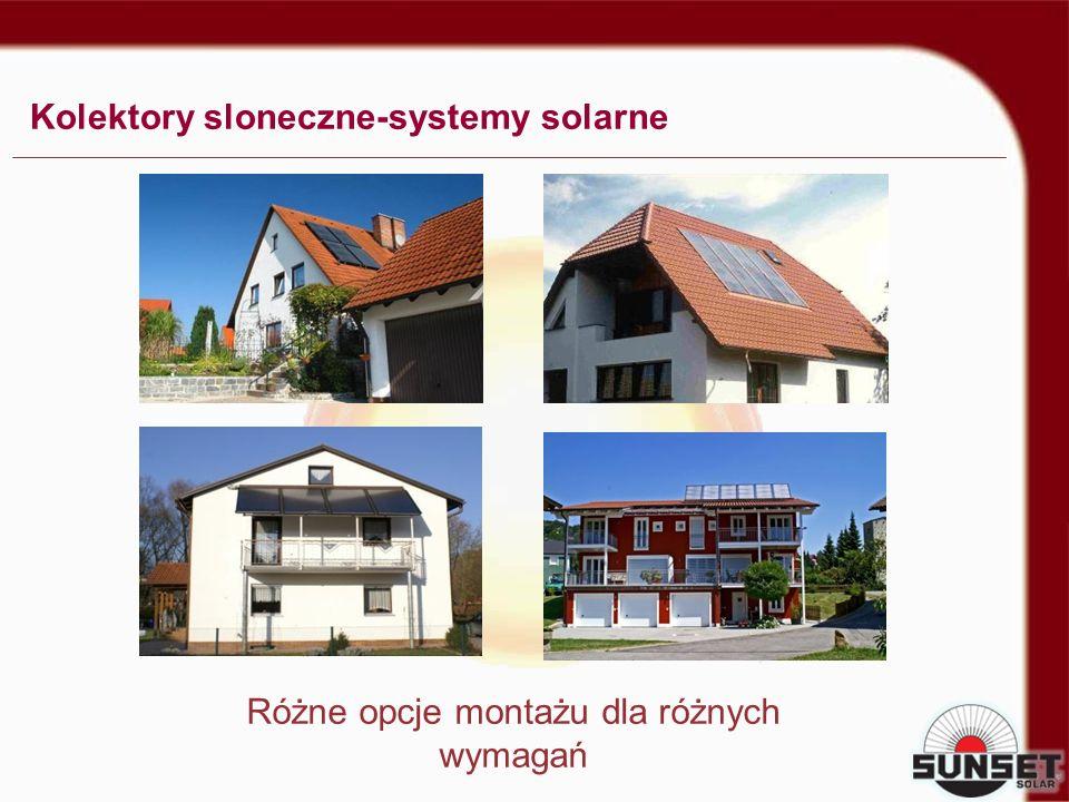 Kolektory sloneczne-systemy solarne Różne opcje montażu dla różnych wymagań