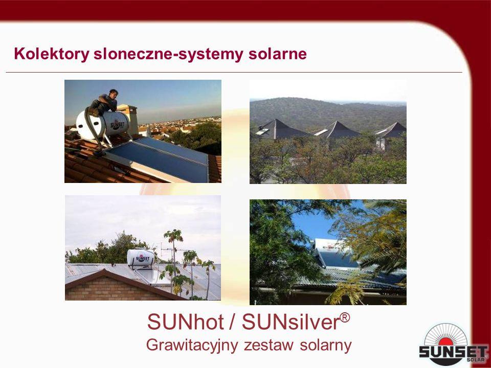 SUNhot / SUNsilver ® Grawitacyjny zestaw solarny