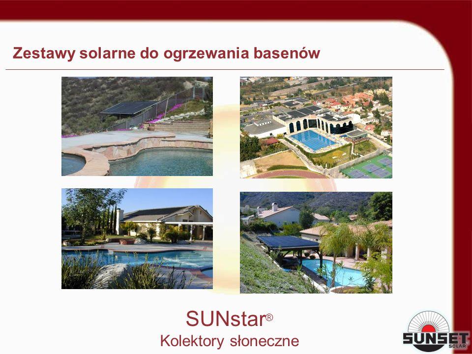 Zestawy solarne do ogrzewania basenów SUNstar ® Kolektory słoneczne