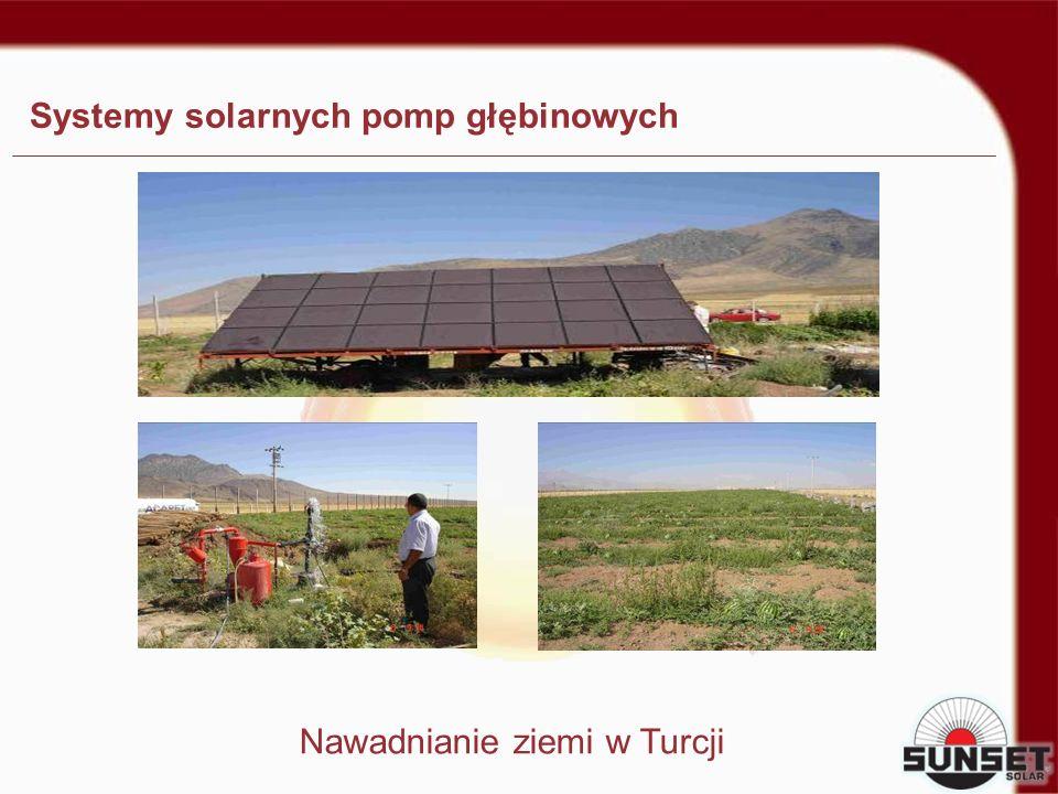 Systemy solarnych pomp głębinowych Nawadnianie ziemi w Turcji