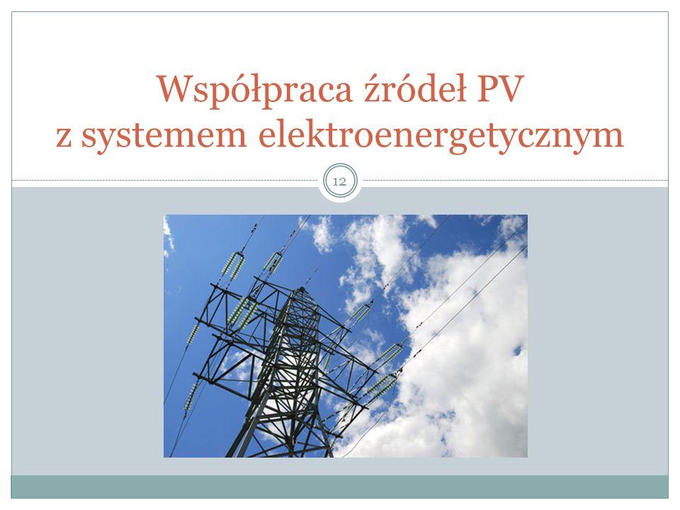 Współpraca źródeł PV z systemem elektroenergetycznym 12
