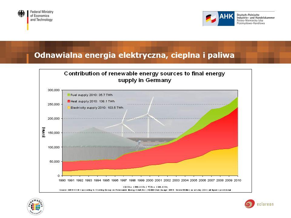 Odnawialna energia elektryczna, cieplna i paliwa