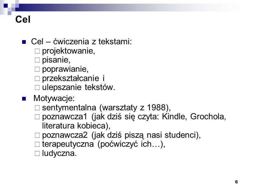 7 Prowadzący Jestem: strukturalistą, lingwistą formalnym, gramatykiem-polonistą, człowiekiem od NLP, poetą dla przyjemności.