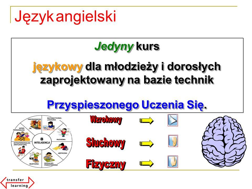 Jedyny kurs językowy dla młodzieży i dorosłych zaprojektowany na bazie technik Przyspieszonego Uczenia Się. Jedyny kurs językowy dla młodzieży i doros