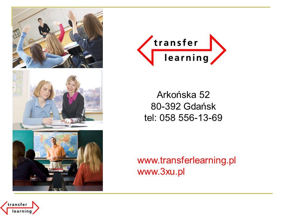 Arkońska 52 80-392 Gdańsk tel: 058 556-13-69 www.transferlearning.pl www.3xu.pl