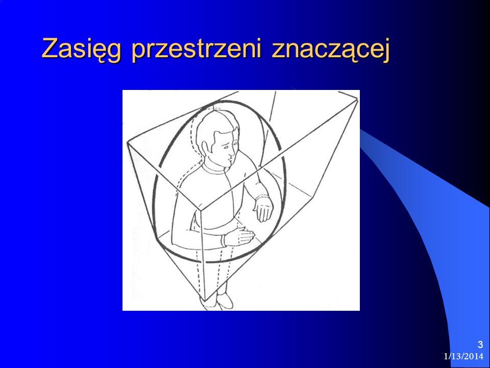 1/13/2014 24 Podsumowanie Przestrzeń jest najbardziej produktywnym tworzywem języka migowego.