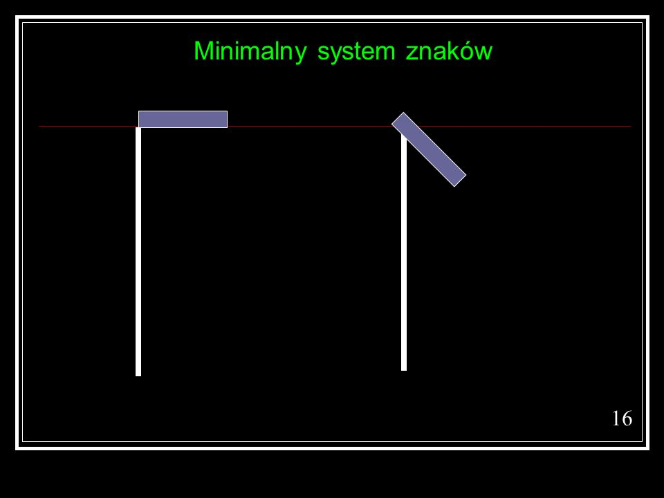 Minimalny system znaków 16