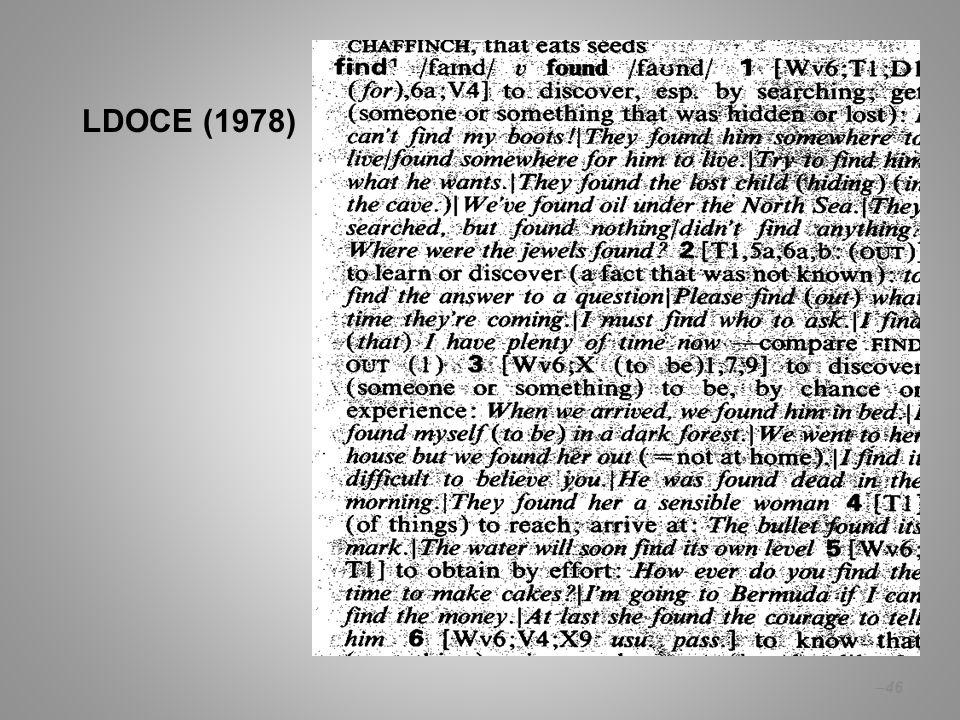 – 46 LDOCE (1978)