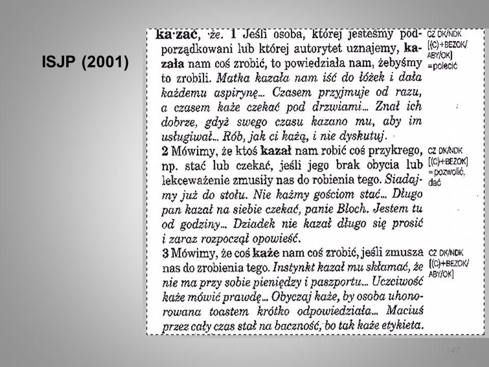 – 47 ISJP (2001)