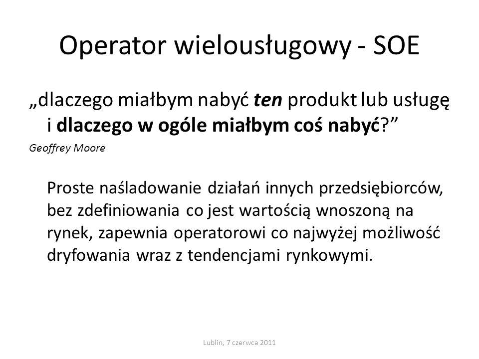 Operator wielousługowy - SOE dlaczego miałbym nabyć ten produkt lub usługę i dlaczego w ogóle miałbym coś nabyć.
