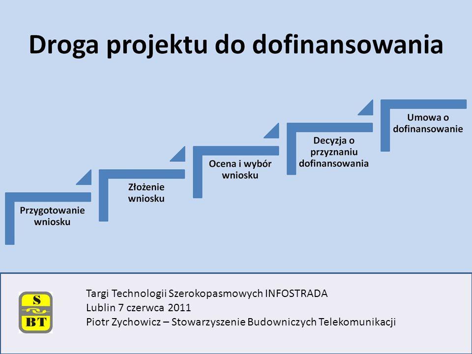 Targi Technologii Szerokopasmowych INFOSTRADA Lublin 7 czerwca 2011 Piotr Zychowicz – Stowarzyszenie Budowniczych Telekomunikacji
