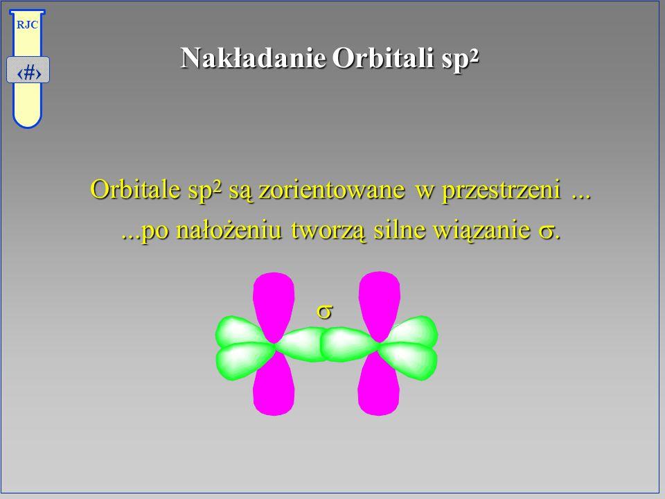 8 RJC Nakładanie Orbitali sp 2 Orbitale sp 2 są zorientowane w przestrzeni......po nałożeniu tworzą silne wiązanie.