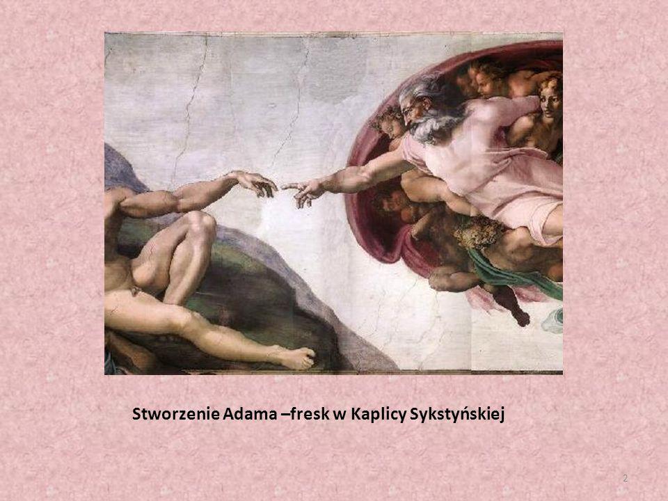 Stworzenie Adama –fresk w Kaplicy Sykstyńskiej 2