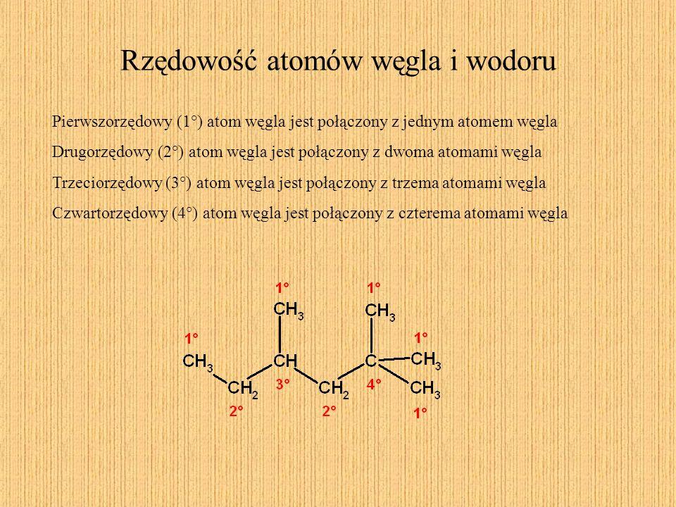 Alkany (parafiny) Otrzymywanie (przemysł) Metoda Fischera – Tropscha CO + H 2 CH 4 + H 2 O (kat., T) Wyższe alkany (C2-C4) spotykamy również w gazie ziemnym.
