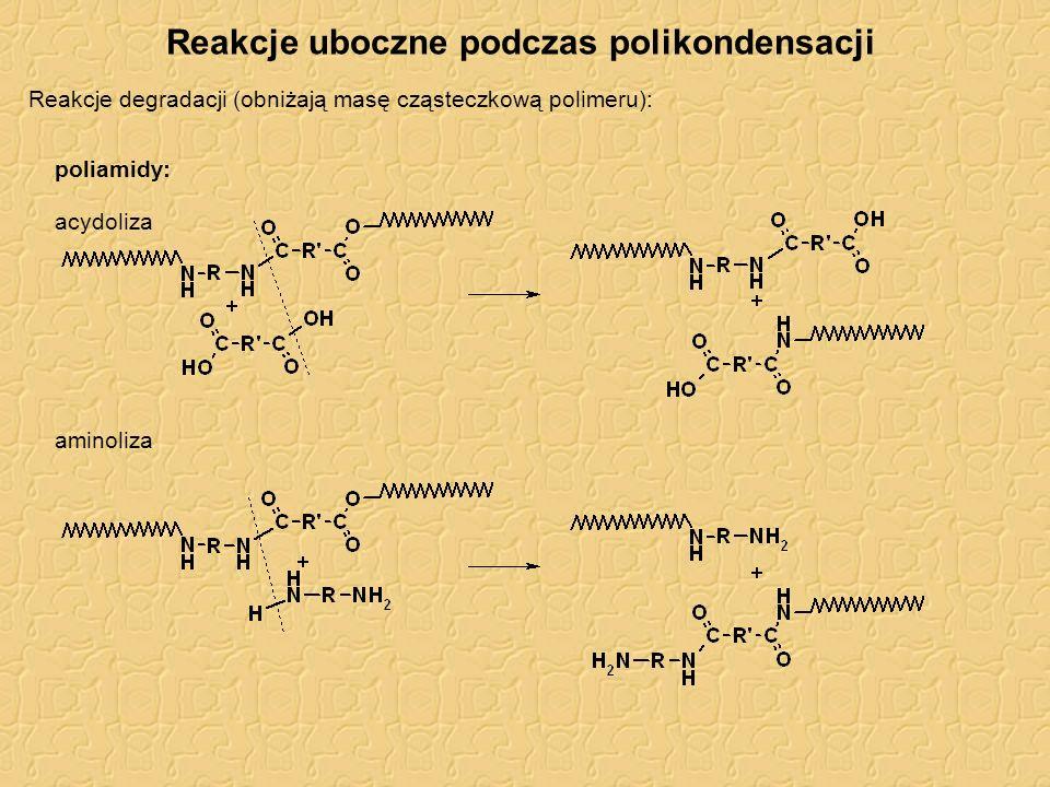 Żywice alkidowe Na bazie gliceryny i bezwodnika ftalowego: II-rzędowe grupy –OH gliceryny reagują trudniej (potrzebna wyższa temperatura) Modyfikowane dodatkiem nienasyconych kwasów tłuszczowych: mniejsza kruchość (mniej usieciowane), lepsza wodoodporność, schnięcie.