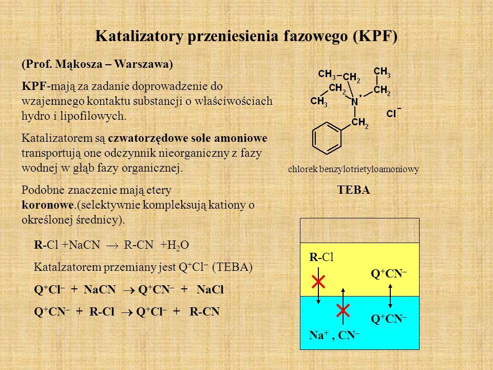 Katalizatory przeniesienia fazowego (KPF) (Prof.
