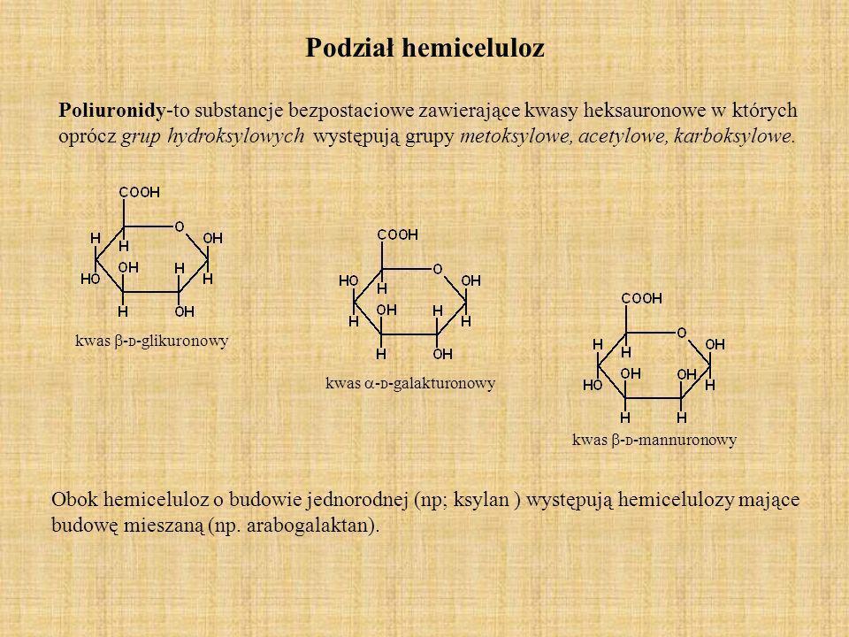 Pentozany Pentozanom przypisuje się budowę podobną do budowy celulozy tj.