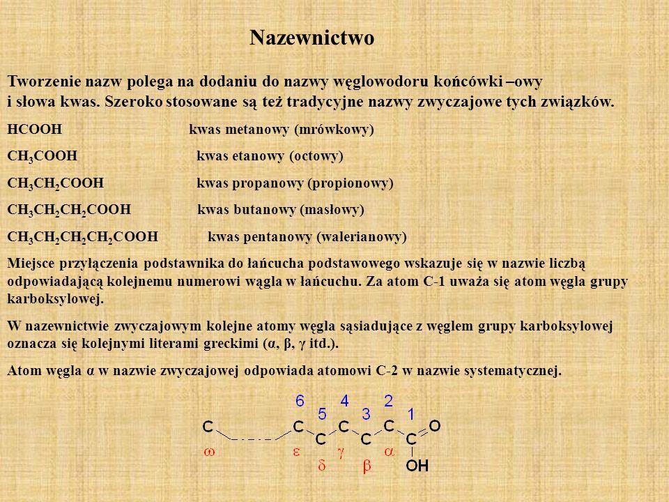 Bezwodniki kwasowe Bezwodniki kwasowe ulegają takim samym reakcjom jak chlorki kwasowe, przy czym zamiast cząsteczki HCl w reakcjach tworzy się cząsteczka kwasu karboksylowego.