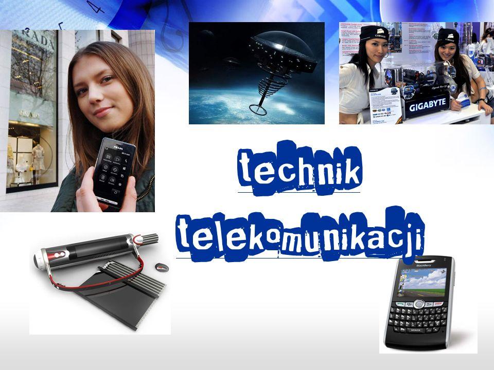 Możesz podjąć pracę w różnych zakładach np: zakłady telekomunikacji, zakłady wykonujące montaż sieci i urządzeń telekomunikacyjnych, zakłady wytwórcze sprzętu i urządzeń dla telekomunikacji,