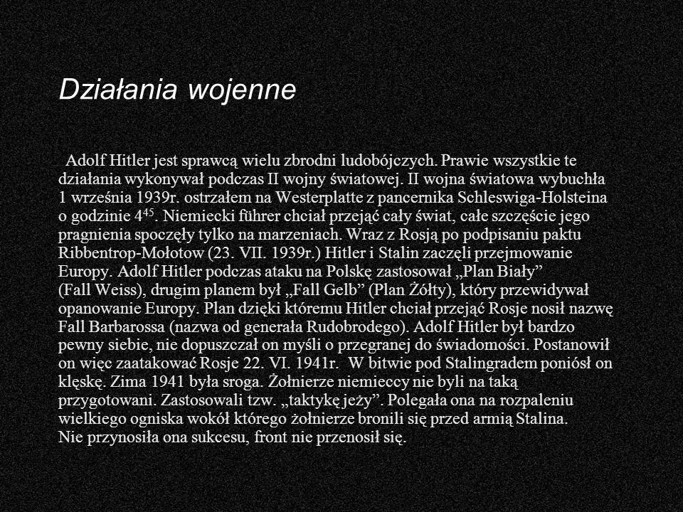 Twórczość Adolfa Hitlera Adolf Hitler napisał książkę pt.