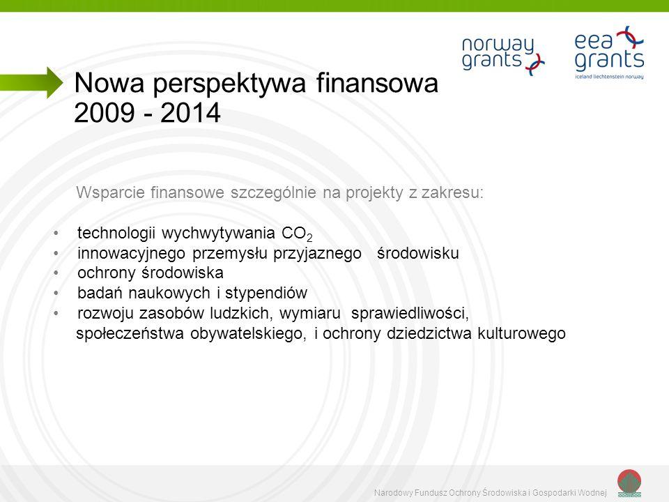 Narodowy Fundusz Ochrony Środowiska i Gospodarki Wodnej Wsparcie finansowe szczególnie na projekty z zakresu: technologii wychwytywania CO 2 innowacyj