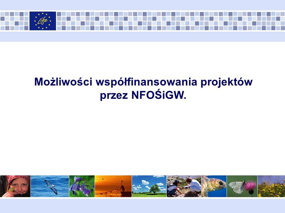 Możliwości współfinansowania projektów przez NFOŚiGW.