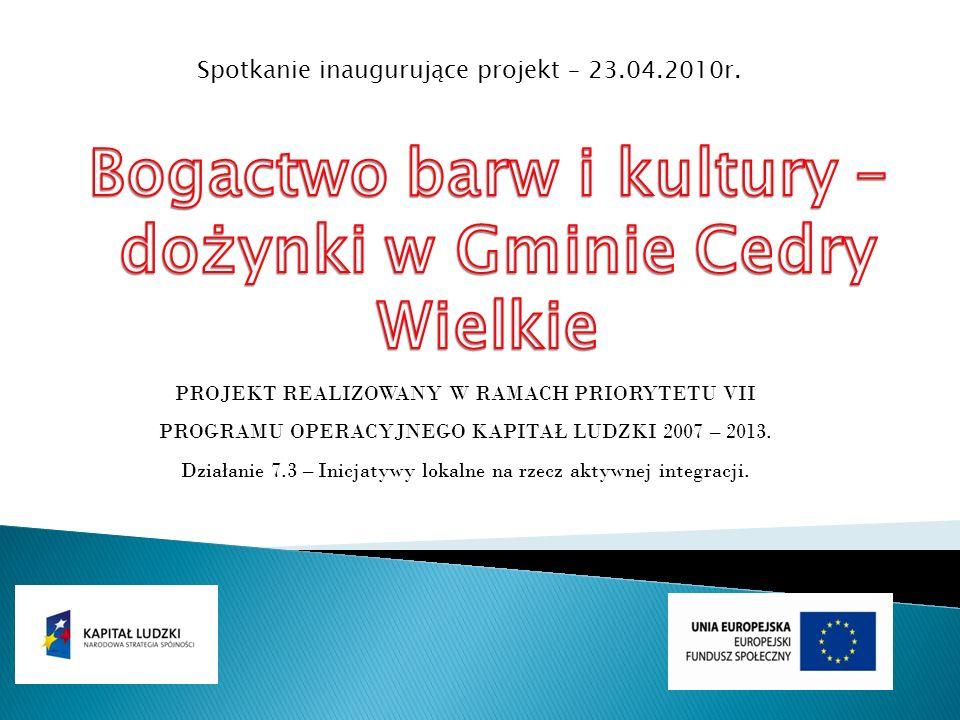 Spotkanie inaugurujące projekt – 23.04.2010r.