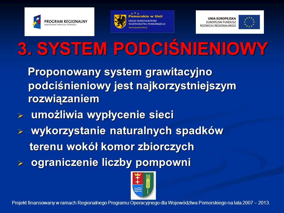 3. SYSTEM PODCIŚNIENIOWY Proponowany system grawitacyjno podciśnieniowy jest najkorzystniejszym rozwiązaniem Proponowany system grawitacyjno podciśnie