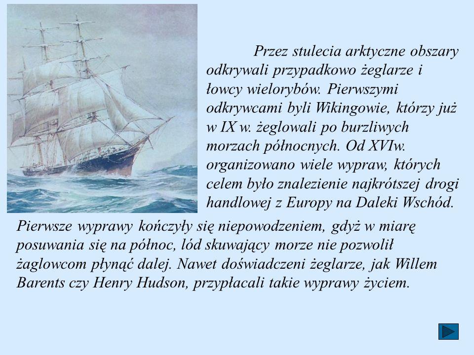 Przez stulecia arktyczne obszary odkrywali przypadkowo żeglarze i łowcy wielorybów.