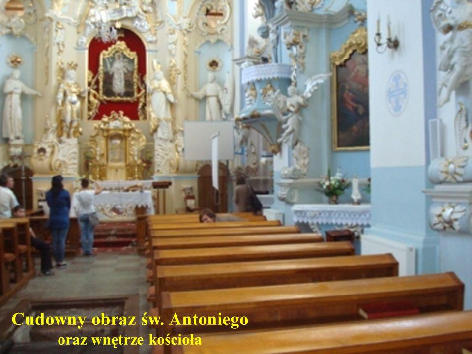 Cudowny obraz św. Antoniego oraz wnętrze kościoła