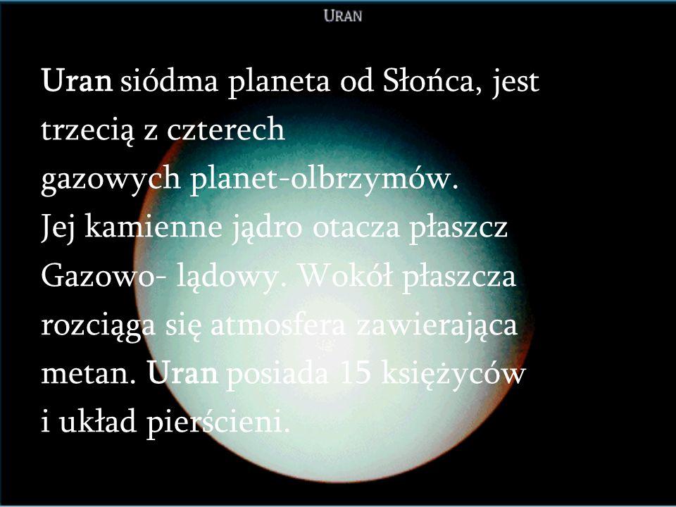 KSIĘŻYCE SATURNA Znamy obecnie 20 księżyców Saturna (niewykluczone, że jest ich więcej), z których 13 odkryto z Ziemi, a resztę z sond kosmicznych, pr