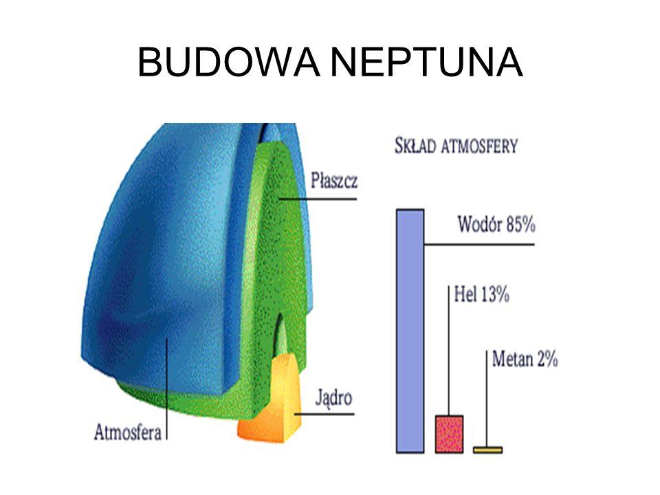 Neptun jest ósmą planetą od Słońca. Wielkością i budową przypomina swego sąsiada-Urana. Jaskrawo błekitny kolor jego atmosfery pochodzi od metanu. Na