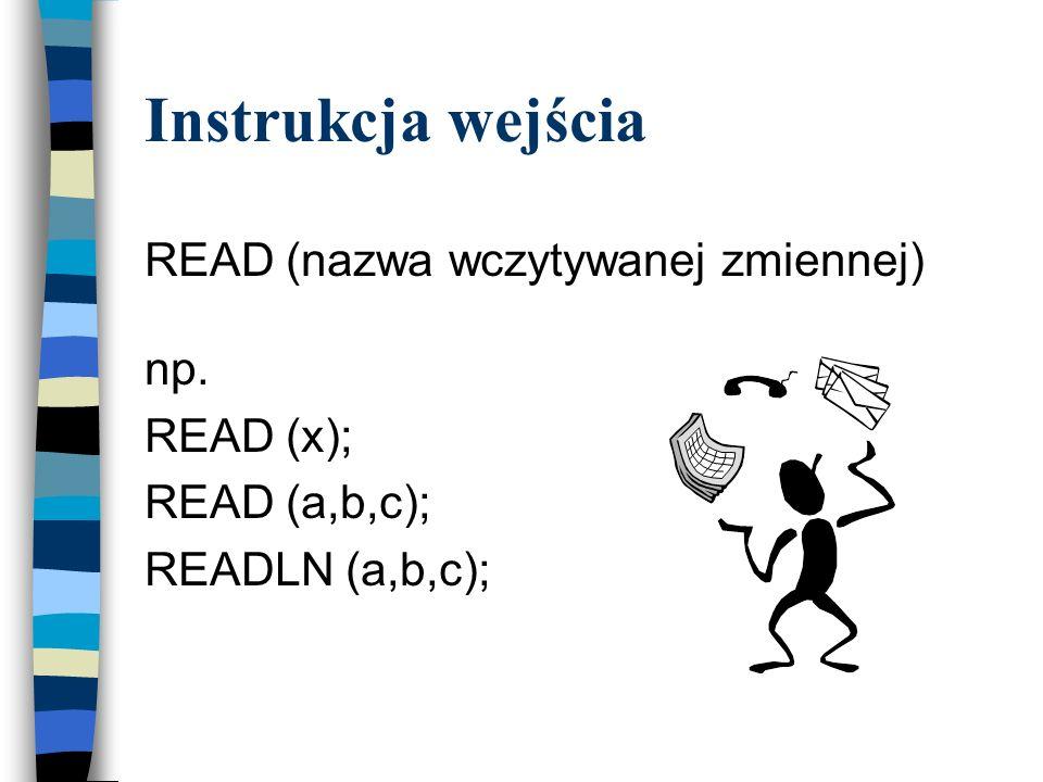REAL – dowolna liczba rzeczywista z zakresu zależnego od komputera. CHAR – elementami tego typu są znaki należące do kodu ASCII. STRING – elementami s