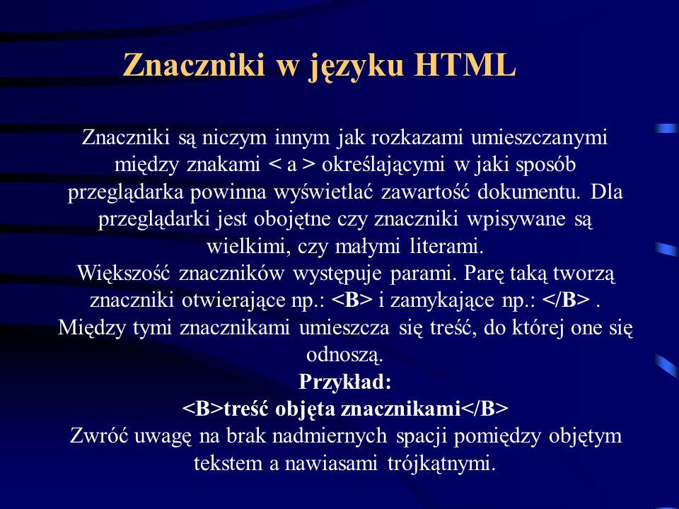 Dokument HTML możesz tworzyć używając dowolnego prostego edytora tekstów takiego jak Notatnik dla Windows.